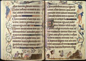Luttrell Psalter pgs 24-25 (172v – 173)